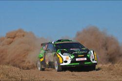 Yazeed Al Rajhi en Micheal Orr, Ford Fiesta RRC