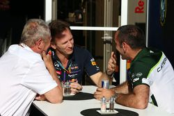 Dr Helmut Marko, Red Bull Motorsport Consultant with Christian Horner, Red Bull Racing Team Principa