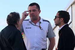 Jean Todt, FIA-Präsident; Eric Boullier, McLaren, Rennleiter