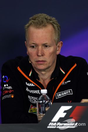 FIA-Pressekonferenz: Andrew Green, Sahara Force India F1 Team, Technischer Direktor