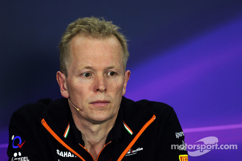Andrew Green, Sahara Force India F1 Team Technical Director in the FIA Press Conference