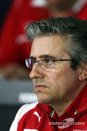 FIA-Pressekonferenz: Pat Fry, stellvertretender Technischer Direktor, Ferrari