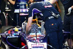 El asiento de la carrera de Sebastian Vettel, Red Bull Racing RB10
