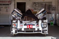 Porsche 919 hybrid in  the garage