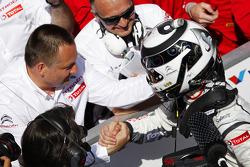Race winner Ma Qing Mu, Citroën C-Elysee WTCC, Citroën Total WTCC celebrates with Yves Matton