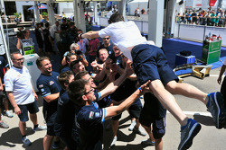 Francois-Xavier Demaison celebrates with VW team