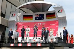 Podium: 1. Daniel Ricciardo, Red Bull Racing; 2. Nico Rosberg, Mercedes AMG F1; 3. Sebastian Vettel, Red Bull Racing