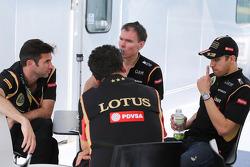 Matthew Carter, Lotus F1, Geschäftsfüher; Federico Gastaldi, Lotus F1, Stellvertretender Teamchef; A