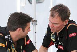 路特斯F1车队CEO马修·卡特和路特斯F1车队赛道运作主管阿兰·珀曼