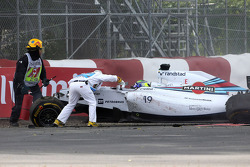 Crash: Felipe Massa, Williams FW36, und Sergio Perez, Sahara Force India F1 VJM07