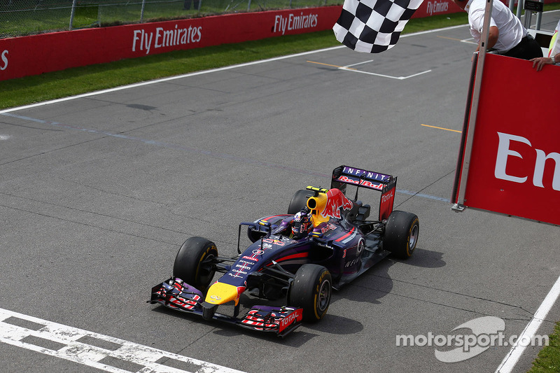 Victoria de Daniel Ricciardo, Red Bull Racing 08, en el GP de Canadá 2014