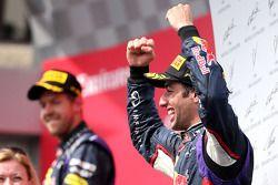 Daniel Ricciardo, Red Bull Racing ; Sebastian Vettel, Red Bull Racing