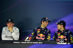 1. Daniel Ricciardo, Red Bull Racing; 2. Nico Rosberg, Mercedes AMG F1; 3. Sebastian Vettel, Red Bul