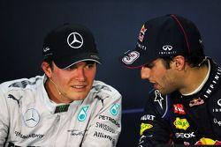 1. Daniel Ricciardo, Red Bull Racing; 2. Nico Rosberg, Mercedes AMG F1