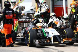 Sergio Pérez, Sahara Force India F1 VJM07 pit stop