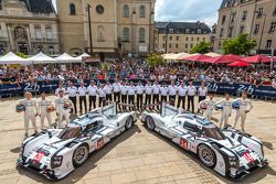 #20 Porsche Team Porsche 919 Hybrid: Timo Bernhard, Mark Webber, Brendon Hartley;#14 Porsche Team Po