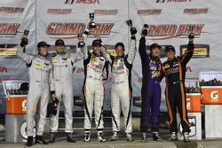 Podium: race winners Jon Bennett, Colin Braun, second place Mirco Schultis, Renger van der Zande, th