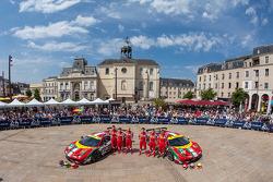 #51 AF Corse Ferrari 458 Italia: Gianmaria Bruni, Toni Vilander, Giancarlo Fisichella;#71 AF Corse F