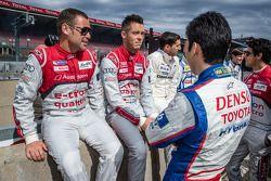 Tom Kristensen, Andre Lotterer et Kazuki Nakajima