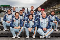 Kristian Poulsen, David Heinemeier Hansson, Nicki Thiim, Darren Turner, Stefan Mücke, Bruno Senna, P