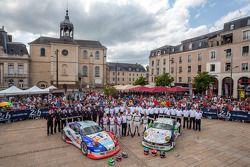 #67 IMSA Performance Matmut Porsche 911 GT3 RSR (997): Erik Marris, Jean-Marc Merlin, Eric Helary ; #76 IMSA Performance Matmut Porsche 911 GT3 RSR (997): Raymond Narac, Nicolas Armindo, David Hallyday