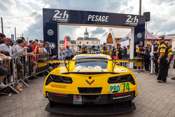 #74 Corvette Racing Chevrolet Corvette C7 arriving at scrutineering