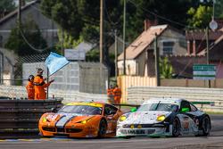 #90 8 Star Motorsports Ferrari 458 Italia: Frankie Montecalvo, Gianluca Roda, Paolo Ruberti, #67 IMS