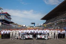 #14 Porsche Team Porsche 919 Hybrid: Romain Dumas, Neel Jani, Marc Lieb et #20 Porsche Team Porsche