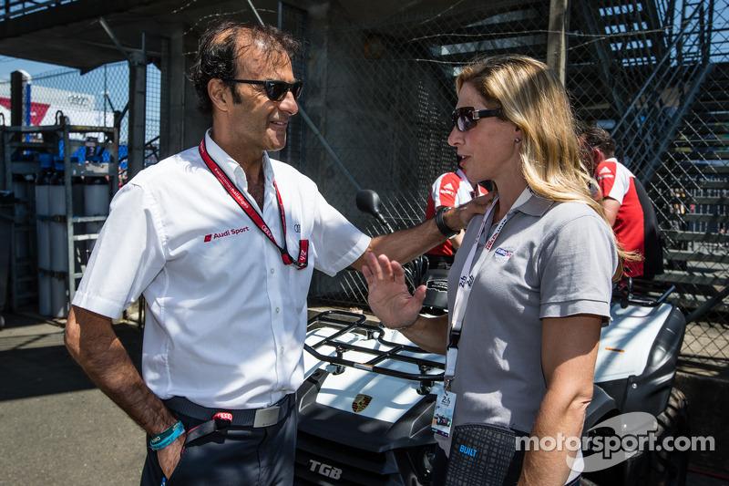 Emanuele Pirro et Liz Halliday