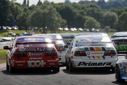 Dave Jarman and Dan Wheeler both in Nissan Primeras