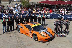 #90 8 Star Motorsports Ferrari 458 Italia: Frankie Montecalvo, Gianluca Roda, Paolo Ruberti