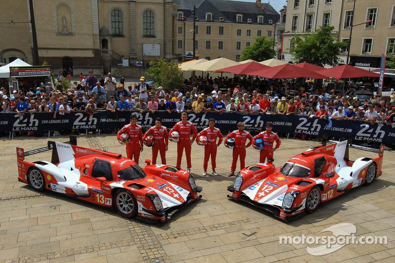 #13 Rebellion Racing Rebellion R-One - Toyota: Dominik Kraihamer, Andrea Belicchi, Fabio Leimer, #12
