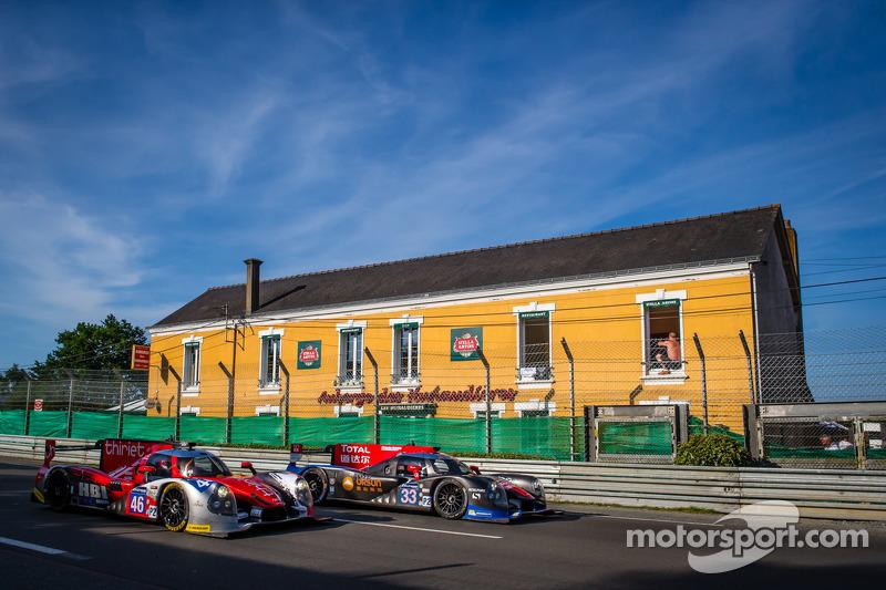 #46 Thiriet By TDS Racing Ligier JS P2 - 日产: 皮埃尔·蒂里耶, 路德维奇·巴代, 特里斯坦·戈蒙迪, #33 OAK Racing - 亚洲 Ligier JS P2 - HPD: 程飞, 董荷斌, 方骏宇