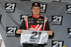 Cole Custer celebrates pole