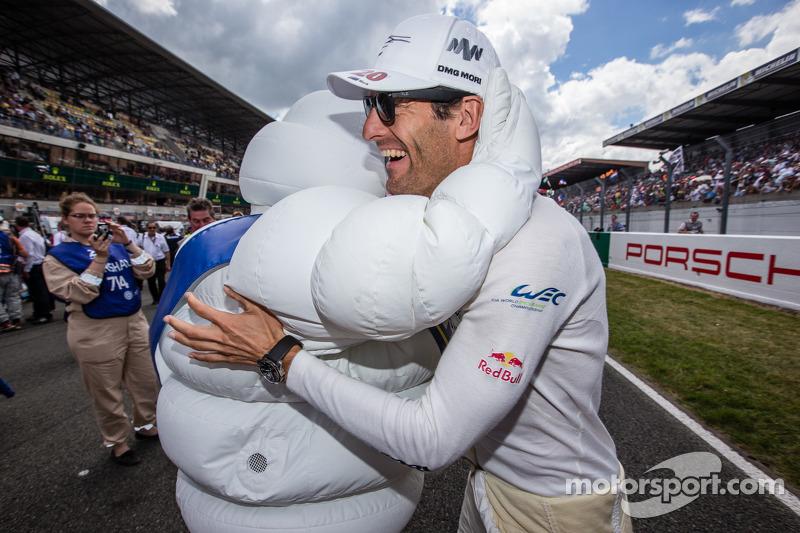 Mark Webber and Bibendum