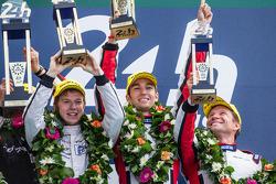 LMP2 podium: Simon Dolan, Harry Tincknell, Oliver Turvey