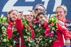 LMP1-L podium: selfie for class winners Nicolas Prost, Nick Heidfeld, Mathias Beche