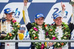 LMGTE Pro podium: Jan Magnussen, Antonio Garcia, Jordan Taylor