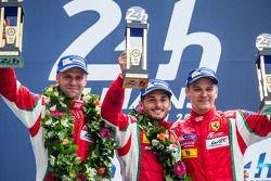 LMGTE Pro podium: Gianmaria Bruni, Toni Vilander, Giancarlo Fisichella