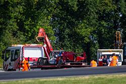 Acidente #27 SMP Racing Oreca 03 - Nissan depois da batida de Mika Salo