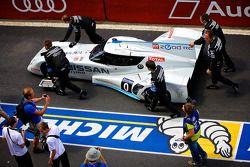 #0 Nissan Motorsports Global Nissan Zeod RC being pushed along pit lane