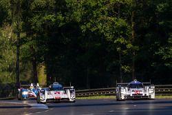 #1 Audi Sport Team Joest Audi R18 E-Tron Quattro: Lucas Di Grassi, Marc Gene, Tom Kristensen; #14 Po