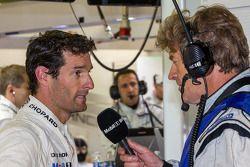 Mark Webber interviewé après son relais