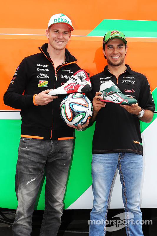 Nico Hülkenberg, Sahara Force India F1; Sergio Perez, Sahara Force India F1