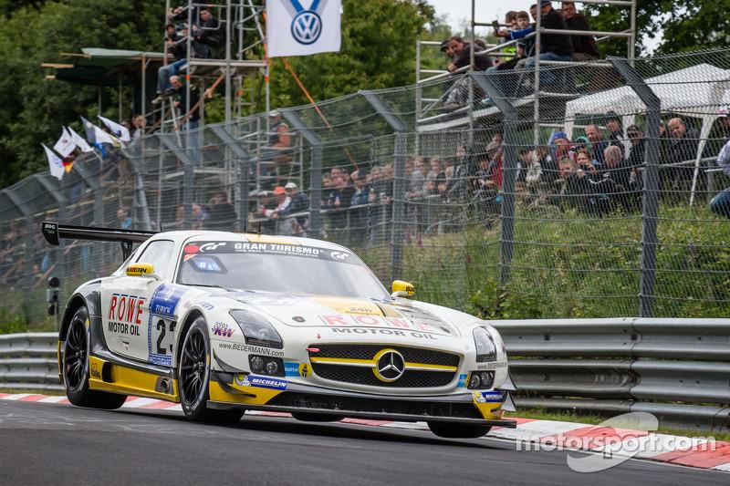 #23 Rowe Racing Mercedes-Benz SLS AMG GT3: Klaus Graf, Jan Seyffarth, Thomas Jäger, Richard Göransso