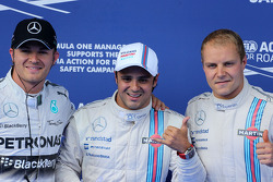 Nico Rosberg, da Mercedes AMG F1 Team, Felipe Massa, Williams F1 Team e Valtteri Bottas, Williams F1 Team 22