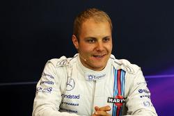 Valtteri Bottas lors de la conférence de presse FIA