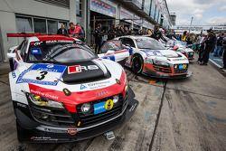 El #3 Audi R8 LMS ultra del equipo Phoenix Racing.