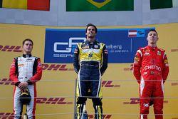 Yarış galibi Felipe Nasr, ikinci sıra Stoffel Vandoorne, üçüncü sıra Raffaele Marciello