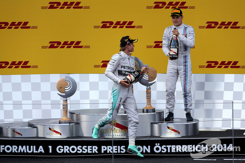 Podium: Nico Rosberg, Mercedes AMG F1 Team; Valtteri Bottas, Williams F1 Team